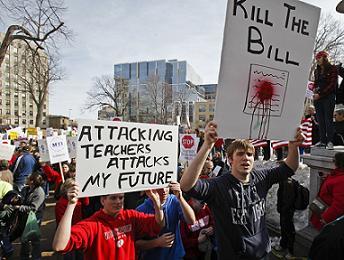 Lecciones de Wisconsin: Sólo la lucha de clases funciona