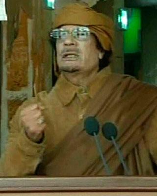 Libia: Gadafi ofrece discurso en antigua ciudad tomada por opositores