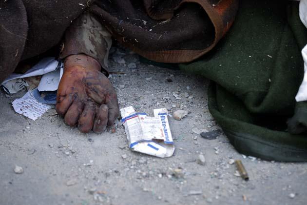 Masacre en Libia. Foto AFP